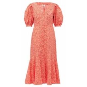 レベッカ テイラー Rebecca Taylor レディース ワンピース ワンピース・ドレス Malia floral-print cotton-poplin midi dress red
