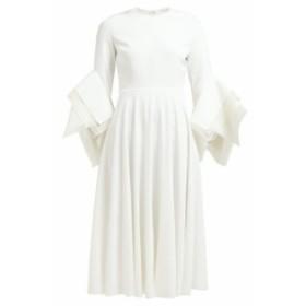 ロクサンダ Roksanda レディース ワンピース ワンピース・ドレス Ayres folded-sleeve midi dress ivory