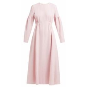 エミリア ウィックステッド Emilia Wickstead レディース ワンピース ワンピース・ドレス Cecil shirred wool-crepe midi dress pink