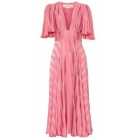 ゴールデン グース Golden Goose レディース ワンピース ワンピース・ドレス Hana striped crepe and satin dress Dusty Pink