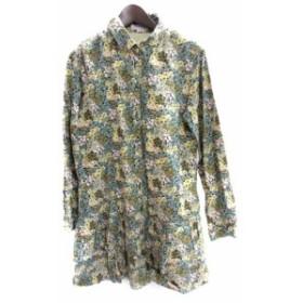 【中古】クローラ crolla シャツ ワンピース 38 M マルチカラー コットン 長袖 花柄  レディース