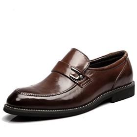 ShoesLove ビジネスシューズ ビットスリッポン メンズ 本革 軽量 通気 2色