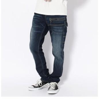 【AVIREX:パンツ】【直営店舗限定】AVIREX/アヴィレックス/ストレッチ デニム 7ポケットパンツ/STRETCH DENIM PANTS