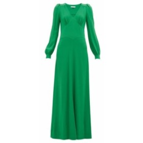 ベラフルード Bella Freud レディース ワンピース ワンピース・ドレス Nova balloon-sleeve crepe dress green
