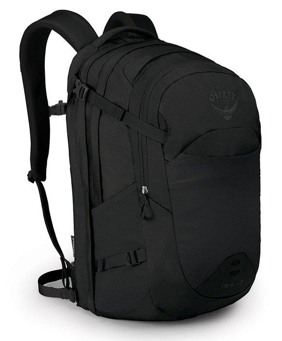 【Osprey 美國】NEBULA 34 電腦背包 15吋筆電背包 城市背包 旅行背包 黑色 (Nebula34)