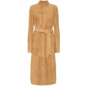 ラルフ ローレン Polo Ralph Lauren レディース ワンピース ワンピース・ドレス Suede midi shirt dress Berkshire Tan