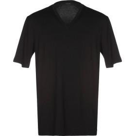 《期間限定 セール開催中》CRUCIANI メンズ T シャツ ブラック 58 コットン 92% / ポリウレタン 8%