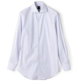 【シップス/SHIPS】 SD: 【GIZAコットン】ピンストライプ ホリゾンタルカラー シャツ(ライトブルー)