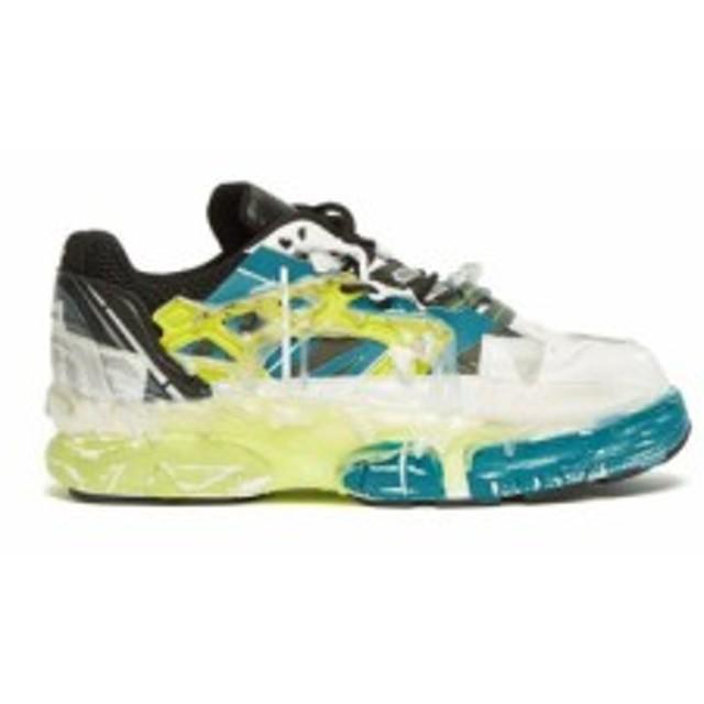 メゾン マルジェラ Maison Margiela メンズ スニーカー シューズ・靴 Fusion leather and mesh trainers white