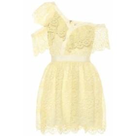 セルフ ポートレイト Self-Portrait レディース ワンピース ワンピース・ドレス Lace minidress Yellow
