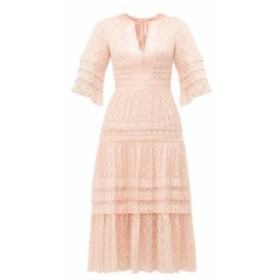テンパリー ロンドン Temperley London レディース ワンピース ワンピース・ドレス Suki metallic fil-coupe midi dress pink