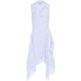 モンス Monse レディース ワンピース ワンピース・ドレス Striped cotton midi dress Sky Blue/White