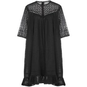 《期間限定セール開催中!》ESSENTIEL ANTWERP レディース ミニワンピース&ドレス ブラック 36 コットン 100% Period short sleeved dress