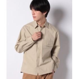 (COMME CA ISM/コムサイズム)ワイドシャツ/ユニセックス ベージュ