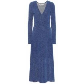 ローテート ROTATE BIRGER CHRISTENSEN レディース ワンピース ワンピース・ドレス Stretch-knit metallic midi dress Metallic Blue