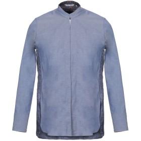 《9/20まで! 限定セール開催中》CALIBAN メンズ シャツ ブルー 42 コットン 97% / ポリウレタン 3%