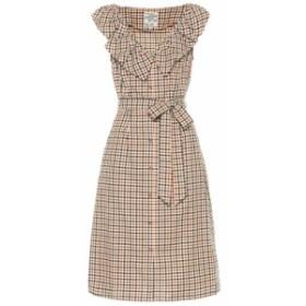 バウム ウンド ヘルガーデン Baum und Pferdgarten レディース ワンピース ワンピース・ドレス April checked cotton midi dress Brown C
