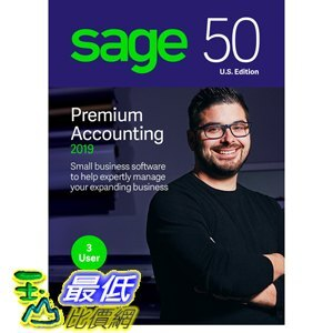 [8美國直購] 暢銷軟體 Sage 50 Premium Accounting 2019 – Advanced Accounting Software – Safe and B07FM67HH4