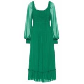 プロエンザ スクーラー Proenza Schouler レディース ワンピース ワンピース・ドレス Silk chiffon midi dress Malachite