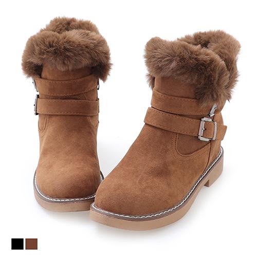 雪靴.韓流拉鍊低跟短靴