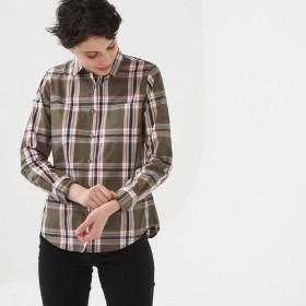 AIGLE レディース レディース 吸水速乾 長袖チェックシャツ ZCF038J ベリーカーキ (154) シャツ・ポロシャツ