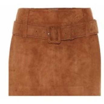 プラダ Prada レディース ミニスカート スカート Suede miniskirt Nut