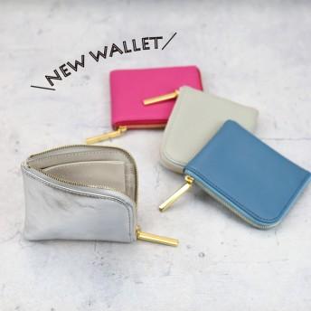 【軽くて薄いミニ財布】小さくて軽いコンパクトL字ミニ財布《牛革/全21色》ラウンド型L字ファスナーmini財布