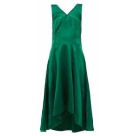 シエス マルジャン Sies Marjan レディース ワンピース ワンピース・ドレス Miriam dip-hem charmeuse midi dress green