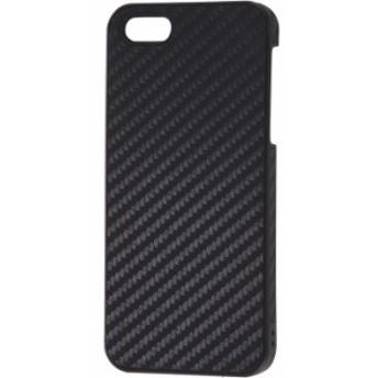 iPhoneSE/5s/5 アイフォンSE ケース/カバー ハードケース レザー調 テクスチャー カーボン・ブラック レイアウト RT-P11LC10/CB