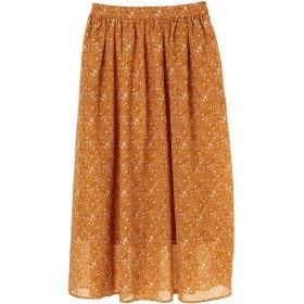 【6,000円(税込)以上のお買物で全国送料無料。】花柄ギャザーロングスカート