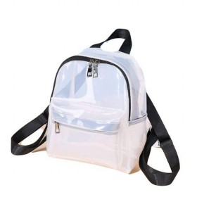 Sasuga クリアリュック シンプル デザイン 透明 バックパック 通勤 通学 お出かけに (ホワイト)
