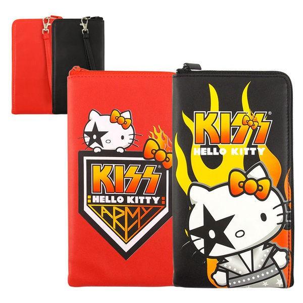 【KISS HELLO KITTY 】 6.4吋通用繽紛系列皮革手機L包-火焰