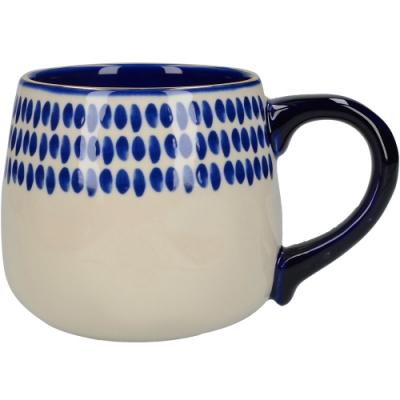 《CreativeTops》靛藍馬克杯(波點450ml)