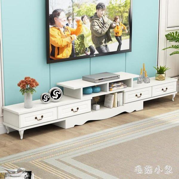 電視櫃茶幾組合套裝現代簡約小戶型客廳家用鋼化玻璃電視機櫃 JA6954『毛菇小象』