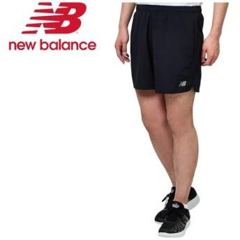 ○19FW New Balance(ニューバランス) ベーシック 5インチショート(インナーなし) AMS93196-BK メンズ