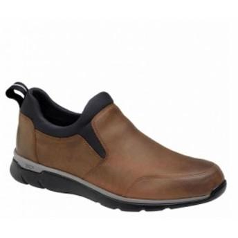 ジョンストン&マーフィー Johnston & Murphy メンズ スリッポン・フラット シューズ・靴 Xc4 Prent Leather Sneaker Tan