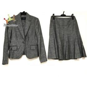 バーバリーロンドン スカートスーツ サイズ40 L レディース 美品 グレー ツイード  値下げ 20190818