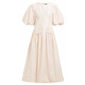 シモーネ ロシャ Simone Rocha レディース ワンピース ワンピース・ドレス Gigot-sleeve taffeta midi dress light pink