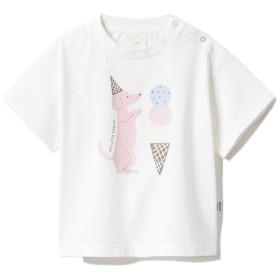 【ジェラート ピケ/gelato pique】 【BABY】アイスクリームアニマルワンポイント baby Tシャツ