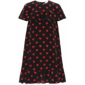 レッド ヴァレンティノ REDValentino レディース ワンピース ワンピース・ドレス Heart-printed silk minidress nero