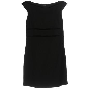 《セール開催中》DSQUARED2 レディース ミニワンピース&ドレス ブラック 46 バージンウール 100% / レーヨン / ポリエステル