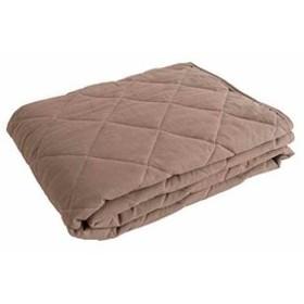 mofua natural 敷きパッド 水洗い加工で仕上げた 麻×綿[555101N8](グレージュ, シングル)