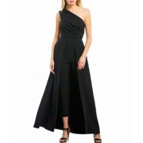 ケイ アンジャー Kay Unger レディース オールインワン ワンピース・ドレス One Shoulder Stretch Crepe Walk-Thru Jumpsuit Black