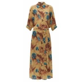 レイ Raey レディース ワンピース ワンピース・ドレス Hawaii floral-print dolman-sleeve silk shirtdress beige