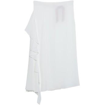 《9/20まで! 限定セール開催中》N°21 レディース 7分丈スカート ホワイト 40 アセテート 69% / シルク 31%