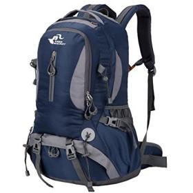 Sunvp アウトドア 登山用バッグ リュックサック バックパック ザック ハイキング 旅行 高通気性 多用途 丈夫 軽量 男女兼用 (ダークブルー)