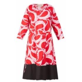 マルニ Marni レディース ワンピース ワンピース・ドレス Paisley-print dress red