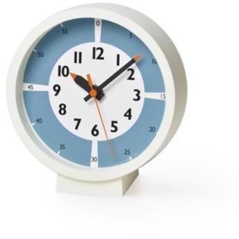 置き時計 fun pun clock(ふんぷんくろっく) with color!for table ライトブルー