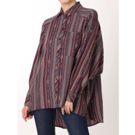 【ジェイダ/GYDA】 irregular stripe pattern BIG シャツ