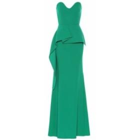 ローラン ムレ Roland Mouret レディース パーティードレス ワンピース・ドレス Bond wool crepe gown Emerald